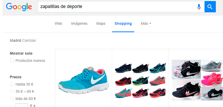Campañas Google Shopping